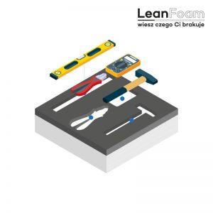 LeanFoam szaro-biała